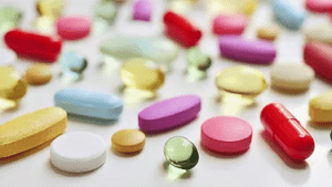 Several colorful pills