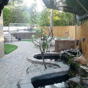 Exterior patio of treatment center