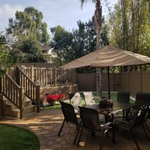 Fully furnished outdoor patio